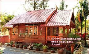 desain rumah kayu di masohi