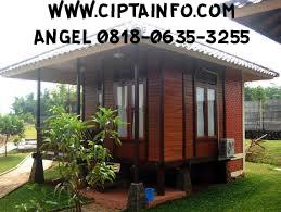 desain rumah kayu di maluku
