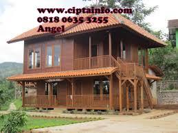 desain rumah kayu di masohi maluku